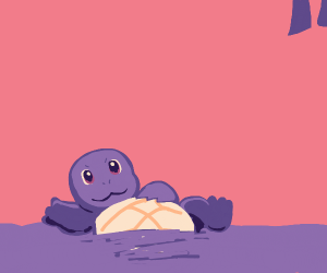 Squirtle does a sploosh in some water