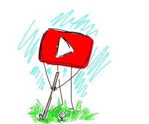 YouTuber Golfing