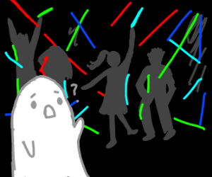 Ghost Goes to Dance Club