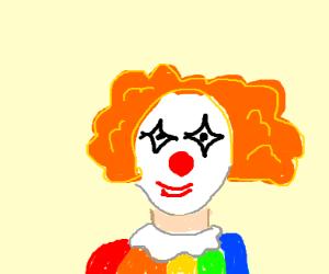 Clown with orange hair