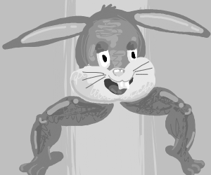 Bugs Bunny, but just the head and legs