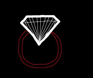 24 karat Diamond ring