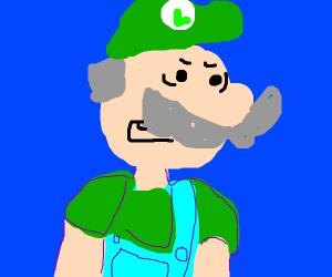 Senior Citizen Luigi confused
