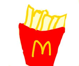 Closeup of McDonald's fries