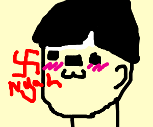 Hitler making a UwU face