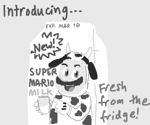 Get the Mario Milk! But it's expired!