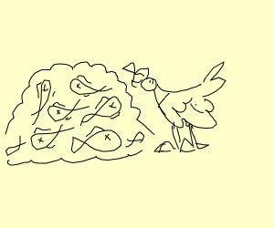 Seagull eats a LoOOOOoT of fish