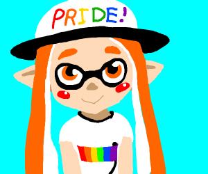 Pride orange squid