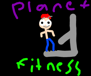 man working out at planet fitness