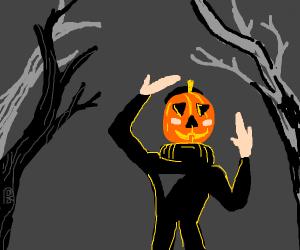 Pumpkin man meme