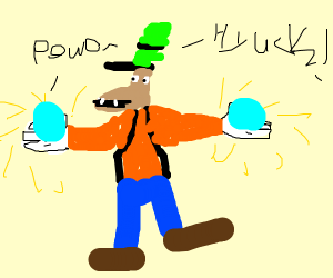 Goofy has obtained ultimate power! Hyuck!