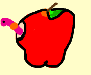 There's a worm through your Apple!