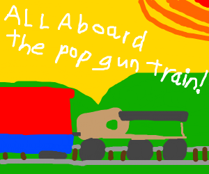 Pop gun train