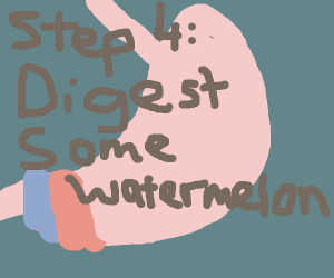 Step 3: turn into a stomach
