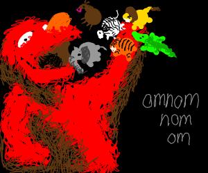 Elmo eats circus animals