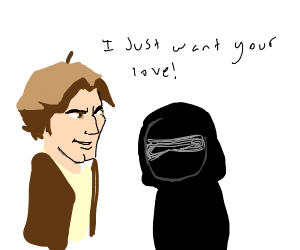 Han(dsom) Solo wants some of Kylo's love