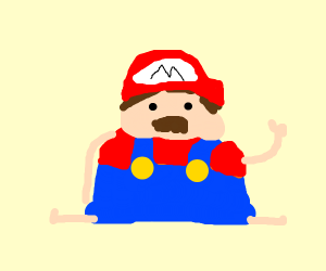 fat mario is ready to go