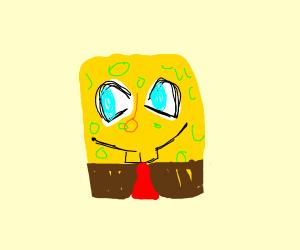 Happy spongebob with no legs