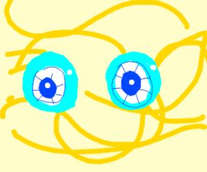 Blue eyeball spaghett