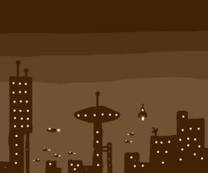 futuristic city??