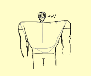 man with 25ft shoulders