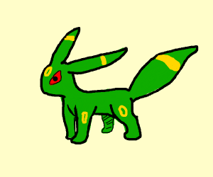 Shiny Umbreon is now green