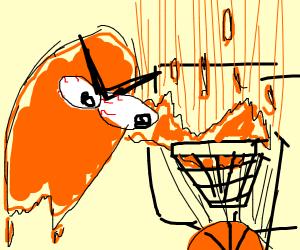 orange blob dunks hard