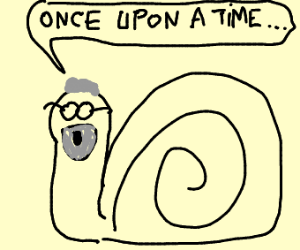 Grandfather snail tells a story