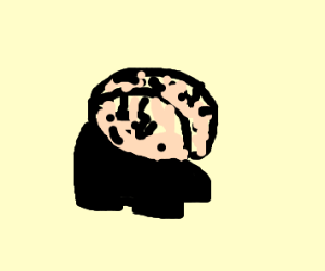 Brain wearing Shoes