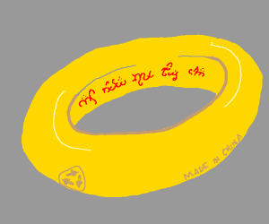 the One Ring but it's made from plastic