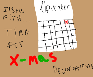 November 1st- time to put up Xmas decorations