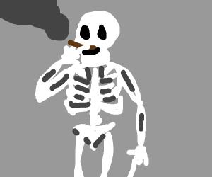 smoking skeletal