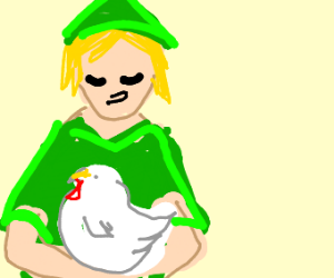 Link doesn't want to lose his chicken