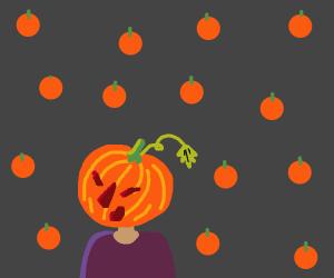 Cute Pumpkin Girl