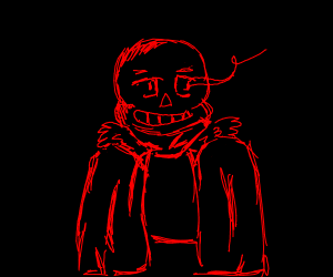 Sans but red