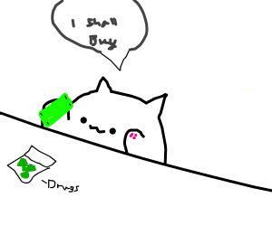 cat tries to buy illegal drugs