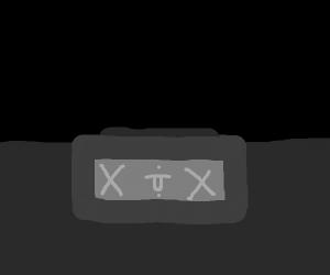 An alarm clock that's died