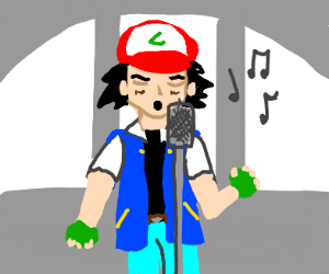 Ash Ketchum sings Never Gonna Give You Up