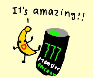 Banana Reviewing Monster Energy