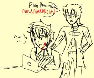 fugo forces narancia to play drawception