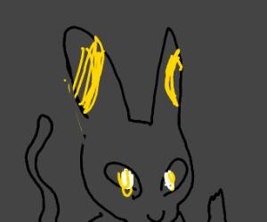 Black jolteonlike creature
