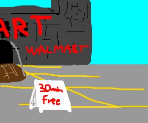 30 minute parking in medieval walmart
