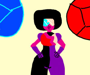 Garnet from SU. Ruby and Sapphire in back.