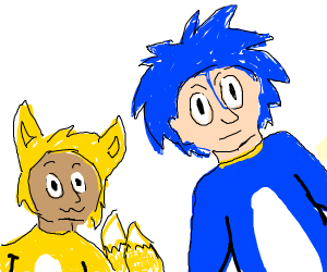 hooman tails & sonic