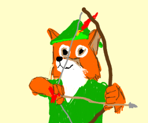 anthropomorphic medieval fox
