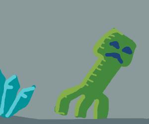 Minecraft Creeper shuns diamonds