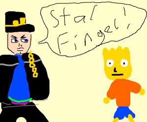 Jotaro used Star Finger on Bart