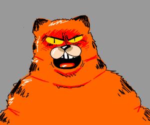 angry red lasgana monster