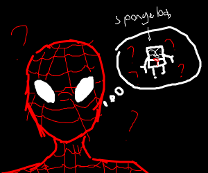 spiderman doesn't know spongebob