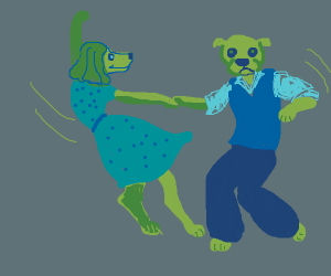 swing dancing dogs